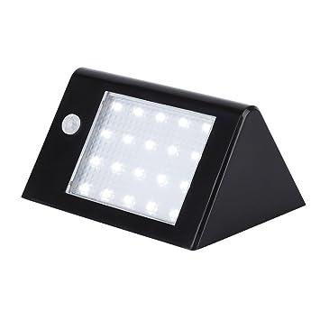 Tsing Foco Solar 20 LED 3.5W Luz solar Exterior Impermeable con Sensor de Movimiento Lámpara