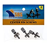 Santa Barbara Surfing SBS - No Tool Stainless Steel Fin Screw for Longboard and SUP - 3 Pack
