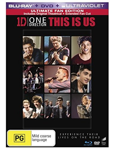 One Direction - This Is Us [Blu-ray + DVD + Ultra Violet] [NON-USA Format / Blu-ray Region B / DVD Region 4 / Import - Australia]