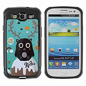 A-type Arte & diseño Anti-Slip Shockproof TPU Fundas Cover Cubre Case para Samsung Galaxy S3 III / i9300 / i717 ( Funny Cute Creature )