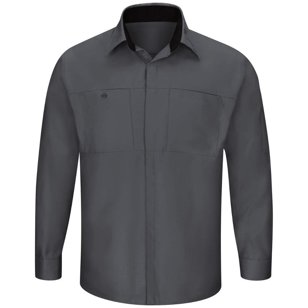 Charcoal With noir engrener S rouge Kap Homme Chemise