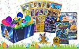 100 Count Pokemon Easter Bundle! Six Easter Eggs! Commons/Uncommons Foils Rares and a GX In Every Bundle! A Figure, Coin, Booster Pack, Pin, Oversize and 2 Surprise Items! With Golden Groundhog Box