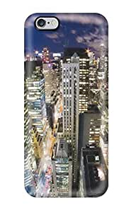 Best-Diy 6 Plus Scratch-proof protective case cover For uEpXmSeK5rZ Iphone/ Hot Skyscraper Night cell phone case cover