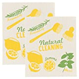 Now Designs Swedish Dishcloths, Natural Cleaning, Set of 2