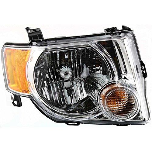 Headlight for ESCAPE 08-12 RH Assembly Halogen w/Bulb(s) Passenger Side