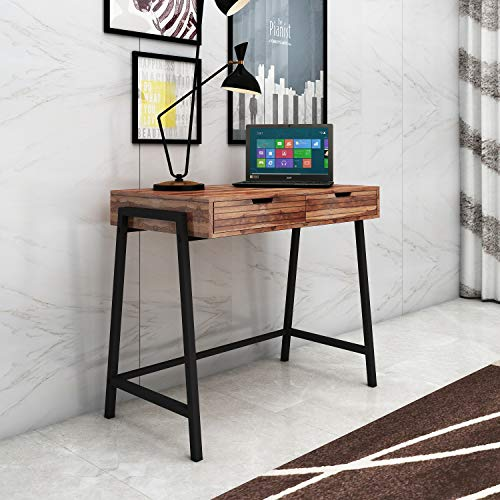 HomeEdge Matured Wooden Furniture Modern and Unique Contemporary Sheesham Wood Alaska Study Desk Writing Table with Drawer for Home Computer Tables  T