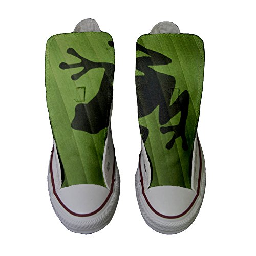 Scarpe Converse All Star Alte personalizzate (scarpe artigianali) Rana Converse
