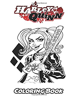 Harley Quinn Coloring Book For Kids And Adults Activity With Fun