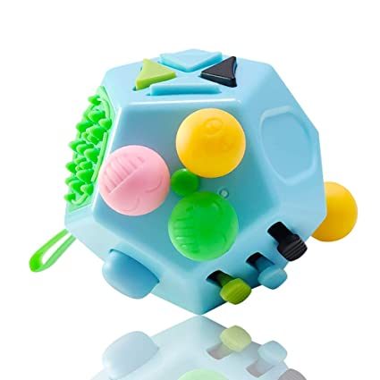 4fab694f09d4d VCOSTORE 12 Sided Fidget Cube, Dodecagon Fidget Toy for Children and  Adults, Stress and Anxiety Relief Depression Anti Cube for All Ages with  ADHD ADD ...