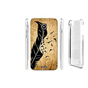 FUNDA CARCASA EFECTO MADERA UCCELLI FEATHER PARA HUAWEI ASCEND Y330