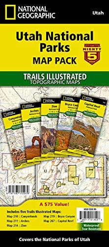 Maps Topo Free - Utah National Parks [Map Pack Bundle] (National Geographic Trails Illustrated Map)