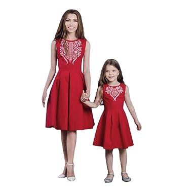 neue Fotos am besten bewertet neuesten USA billig verkaufen LUCKDE LUCKDE Kleid Mutter Tochter, Damen Abendkleider Kurz ...