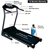 Healthgenie 4012M 2.0 HP Motorized Treadmill with Manual Incline and Silicone Treadmill Lubricant - 550ml