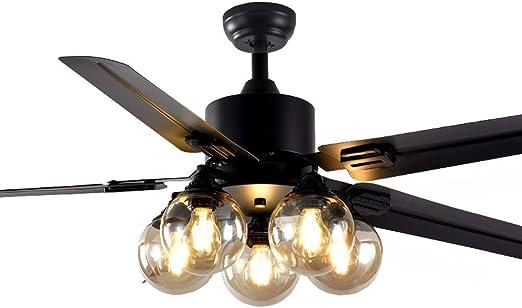 Ventilador De Techo con Kit De Luz LED E27, 3 Velocidades,5 ...