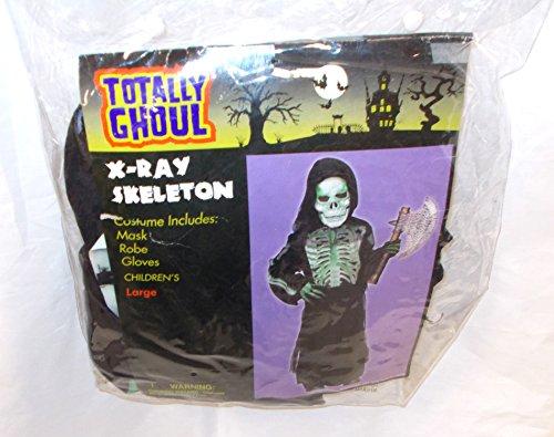 Xray Skeleton Green Boys Halloween Costume L 10-12 NWT (Xray Skeleton Kids Costume)