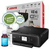 Canon PIXMA TS6020 (Black) Wireless Small Printer Copy Scan with Mobile AirPrint Printing
