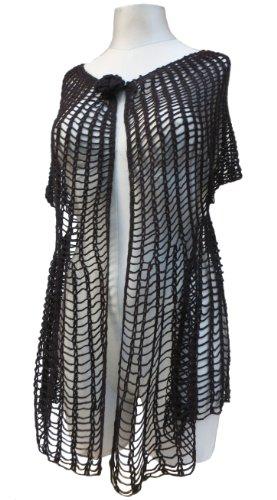 リンクささいな命令ハンドメイドカギ針編み手でベスト – Vintage Inspired – ブラック出荷する準備)