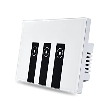 wifi 3 gang touch wall light switch wireless smart 3 way touch wall plate tempered