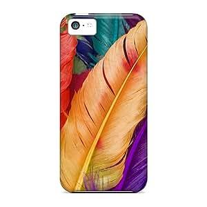[QKS54430lptn]premium Phone Cases For Iphone 5c/ Multicolor Feathers Cases Covers