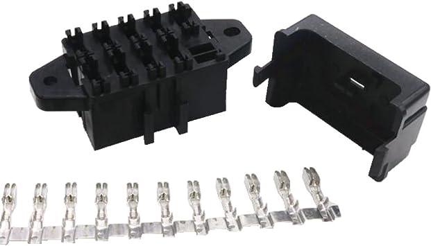 Amazon.com: 9 Way Auto fuse box assembly With terminals Dustproof fuse box  fuse box mounting fuse box BX2091-1: AutomotiveAmazon.com