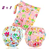 Image of Dwave 2pcs Pack One Size Baby & Toddler Reusable Washable Swim Diapers (Zoo Animals)