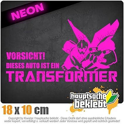 Kiwistar Vorsicht Transformer 18 x 10 cm IN 15 Farben Neon Chrom Sticker Aufkleber