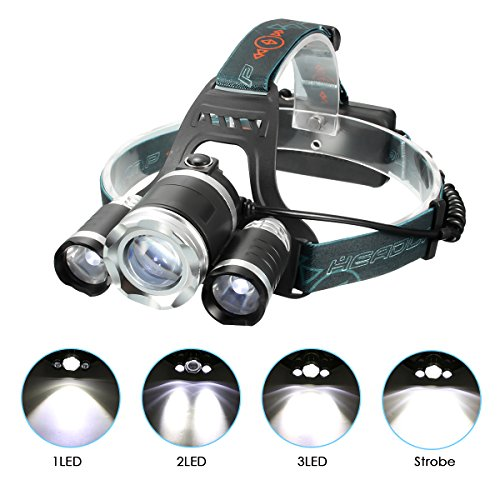 Led 4 Mode Headlamp Light Torch Camping Flashlight - 9