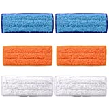 Bluepillows 6 Pack Washable Mopping Pads iRobot Pads Accessories for iRobot Braava Jet 240 241 Spare Pads Kit