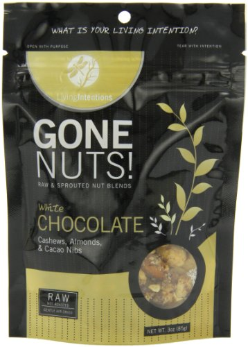 Living Intentions Gone Nuts, White Chocolate, 3 Ounce (Trail Mix With White Chocolate compare prices)