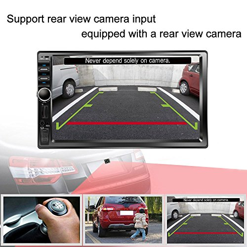 """Backup Camera Lens >> Regetek Car Stereo Double Din 7"""" Touchscreen in Dash Stereo Car Audio Video Player Bluetooth FM ..."""
