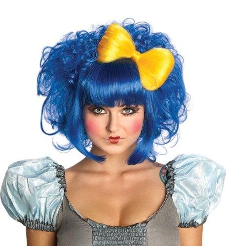 R52673/35 Cutie Doll Wig Animae Wig Blue ()