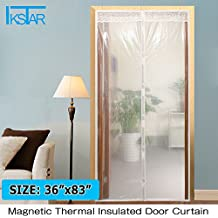 """Transparent Magnetic Thermal Insulated Door Curtain Enjoy Your Cool Summer And Warm Winter With Saving You Money Door Curtain Auto Closer Fits Doors Up To 34"""" x 82""""MAX"""