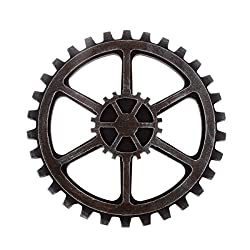 WINOMO 24cm Vintage Steampunk Gear Wheel Home Bar Art Craft Wall Decoration Hexagon Decor
