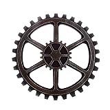 Cheap WINOMO 24cm Vintage Steampunk Gear Wheel Home Bar Art Craft Wall Decoration Hexagon Decor
