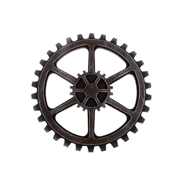 WINOMO 24cm Vintage Steampunk Gear Wheel Home Bar Art Craft Wall Decoration Hexagon Decor 3