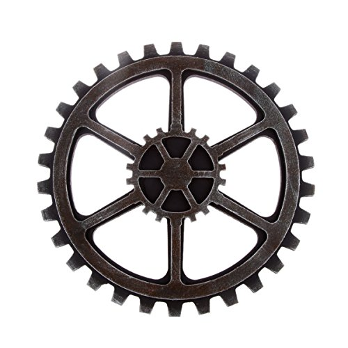 WINOMO 24cm Vintage Steampunk Gear Wheel Home Bar Art Craft Wall Decoration Hexagon Decor (Vintage Gears)