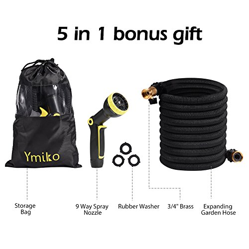 Ymiko Expandable Garden Hose, 50ft Flexible Wat...