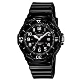 Boy's Casio Quartz Watch Dial Analogue Display Black Resin Strap and Black Dial LRW-200H-1B