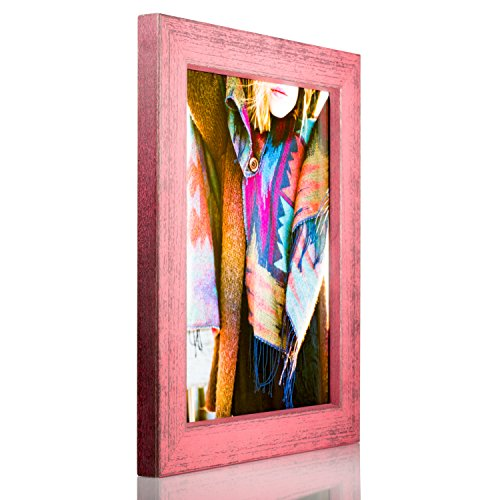 - Craig Frames Gesso, Pink Plain Wooden Picture Frame, 5 by 7-Inch
