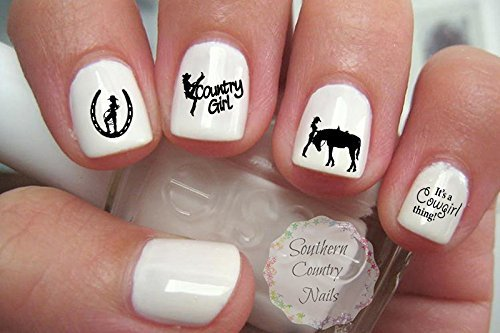 Amazon Cowgirl Nail Art Decals Beauty