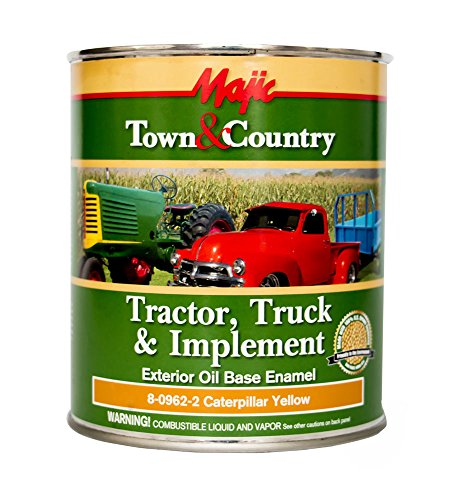 (Majic Paints 8-0962-2 Town & Country Tractor, Truck & Implement Oil Base Enamel Paint, 1-Quart, Caterpillar Yellow)