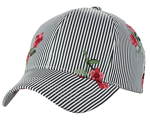 Embroidered Print Hat - 8