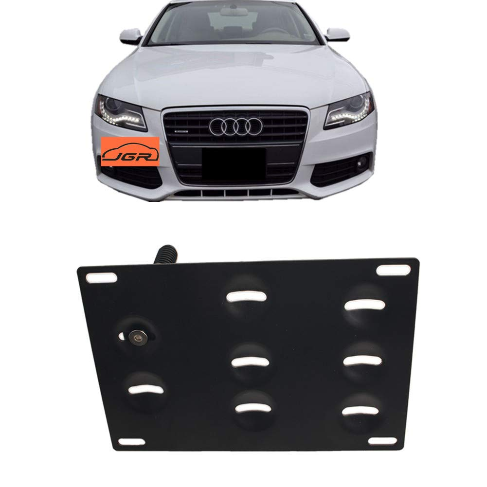 JGR Racing Car No drill Tow Eye Front Bumper Tow Hole Hook License Plate Mount Bracket Holder Adapter Relocation Kit For Audi A4 A5 A7 S4 S5 S7 RS5 RS7 etc JGR-1045