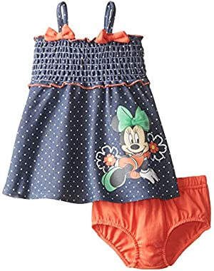 Baby-Girls Minnie Mouse Sun Dress with Panty Set