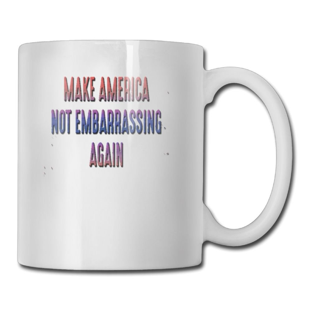 JYLSML Make America Not Embarrassing Again.png Personalized Coffee Mug Add Pictures, Logo, Or Text To Custom Mugs Cups For Gift White
