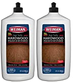 Weiman Wood Floor Polish and Restorer 32 Ounce - High-Traffic Hardwood Floor, Natural Shine, Removes Scratches, Leaves Protective Layer (2 Pack)