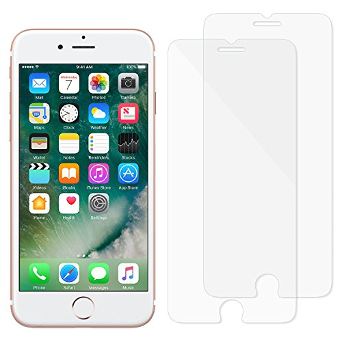 MoKo iPhone 8 / iPhone 7 Screen Protector, [2-Pack][Tempered Glass][Oleophobic Coating][Bubbles-free] for Apple iPhone 8 / 7 / 6s / 6, 4.7