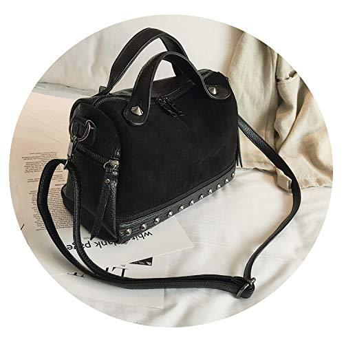 Women's fashion top handle bags leather rivets women shoulder bag,Black,China,28x18x12cm