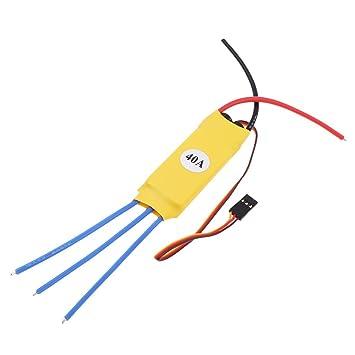 Homyl ESC 40A Controlador de Velocidad Eléctrico para RC ...