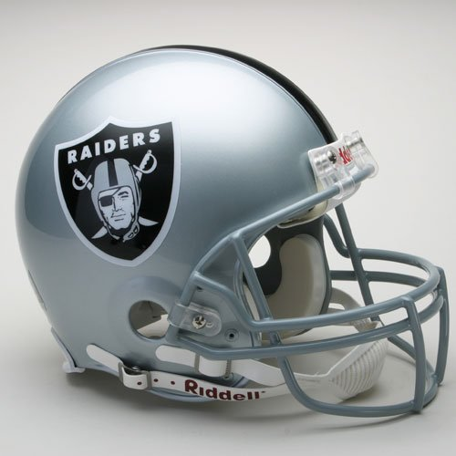 Riddell Oakland Raiders Proline Authentic Football Helmet - Oakland Raiders Oak Helmet